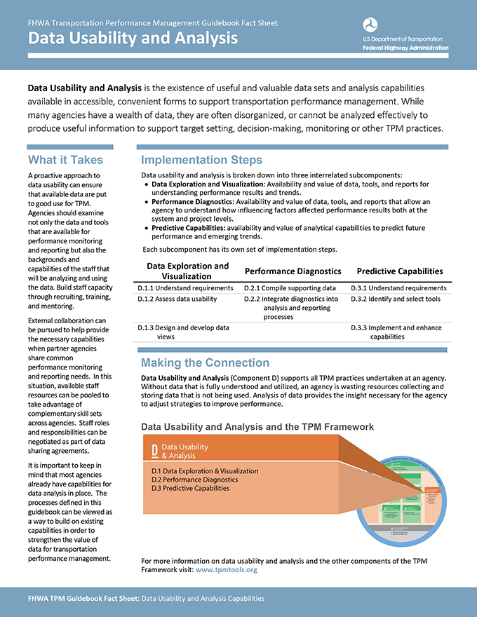 This graphic shows the cover of the component d factsheet.