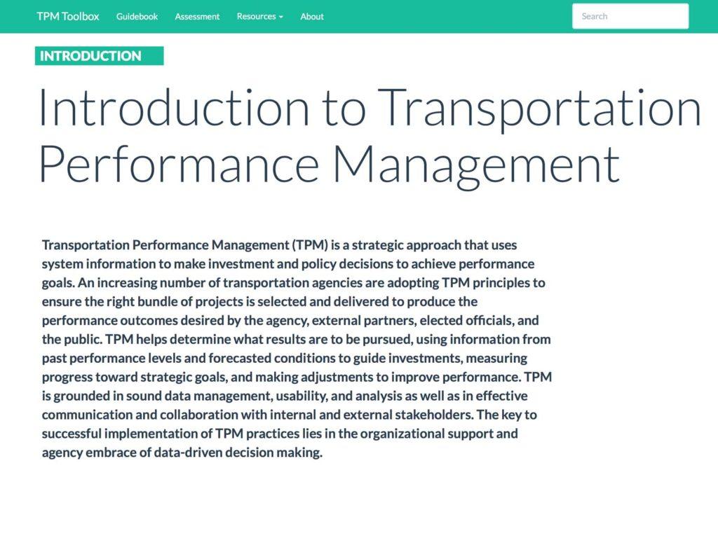 Thumbnail image of TPM Introduction Summary webpage.